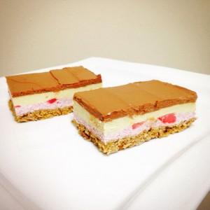Napoletano Gelato Slices *organic,raw vegan,sugar-free and gluten-free* #1 winner of a vegan dessert buffet contest*